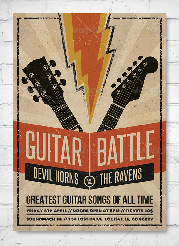GraphicRiver Guitar Battle Music Flyer Poster 7928671