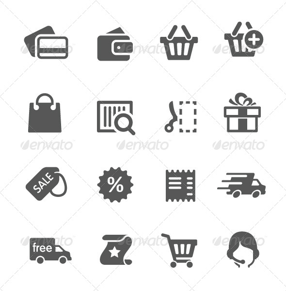 GraphicRiver Shopping Icons 7928736