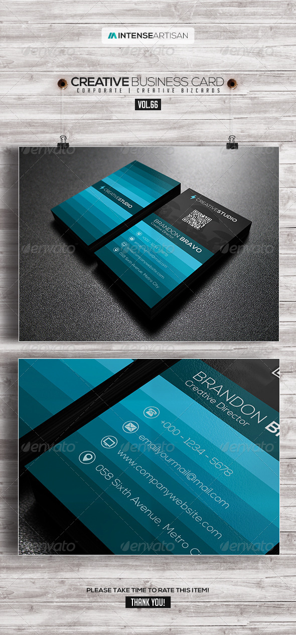GraphicRiver IntenseArtisan Business Card Vol.66 7928763
