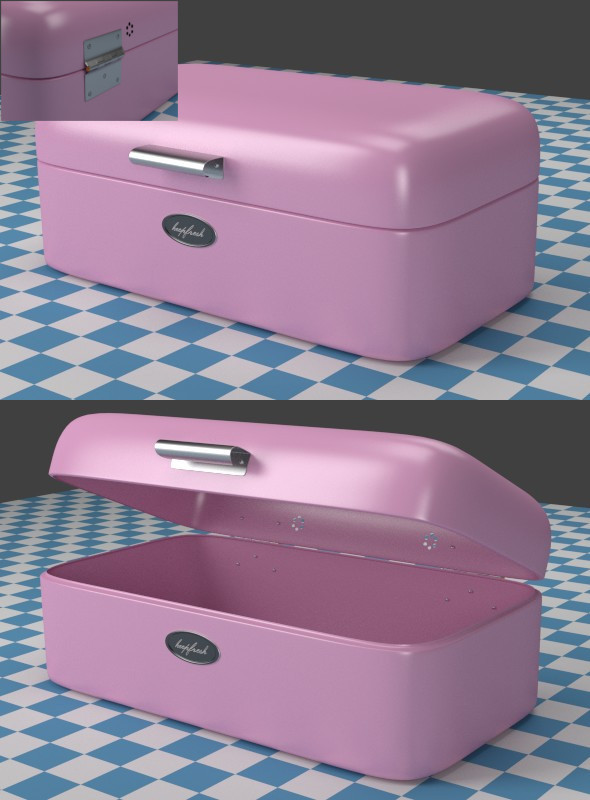 3DOcean Breadbox pink 7928832