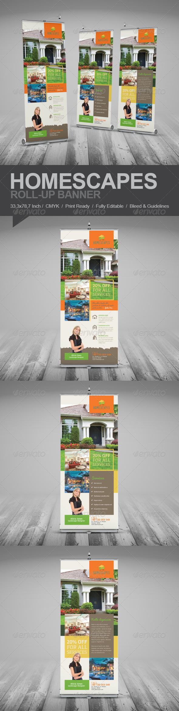 GraphicRiver Real Estate And Homescapes Roll-Up Banner 7929569