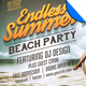 Endless Summer Beach Party Flyer Template - GraphicRiver Item for Sale