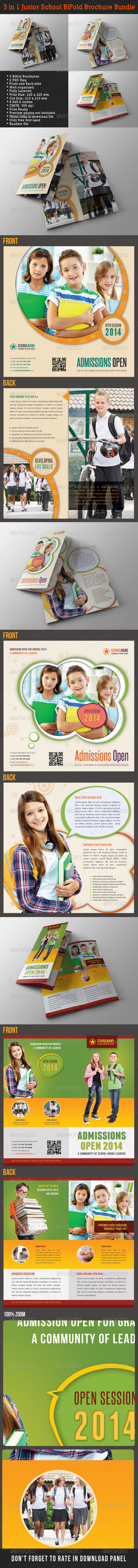 GraphicRiver 3 in 1 Junior School Promotion Brochure Bundle 02 7929654