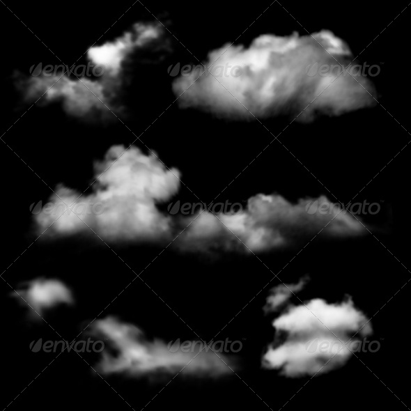 Clouds Over Black Background