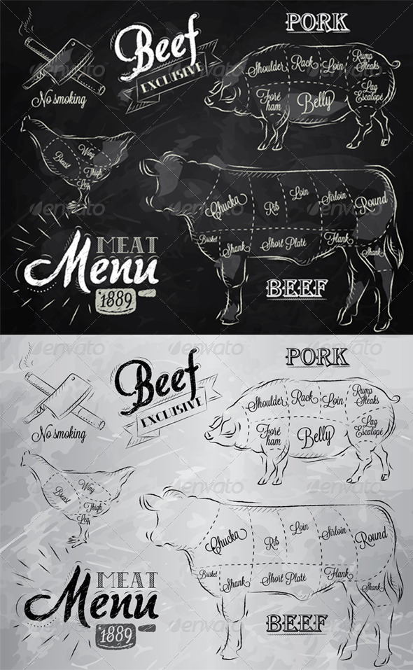GraphicRiver Meat Menu Icons 7930099