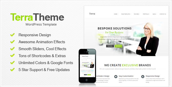 Terra Responsive Multi-Purpose Wordpress Templete