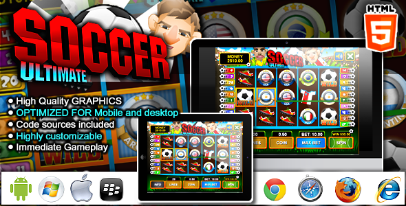 CodeCanyon Slot Machine Ultimate Soccer HTML5 Games 7930126