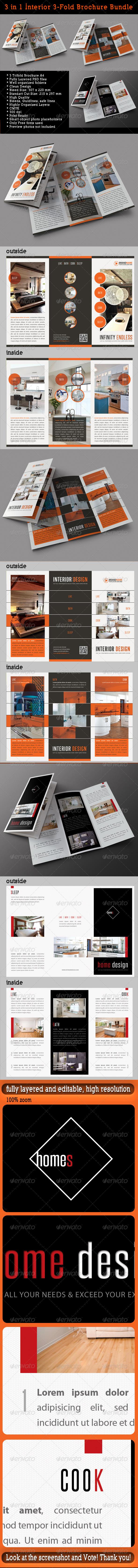 GraphicRiver 3 in 1 Interior 3-Fold Brochure Bundle 03 7930196