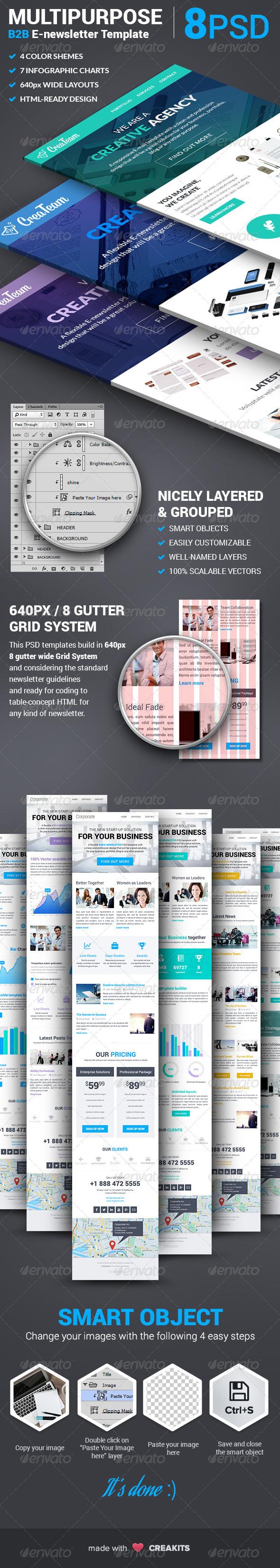 GraphicRiver Corporate Multipurpose B2B E-newsletter Template 7930307