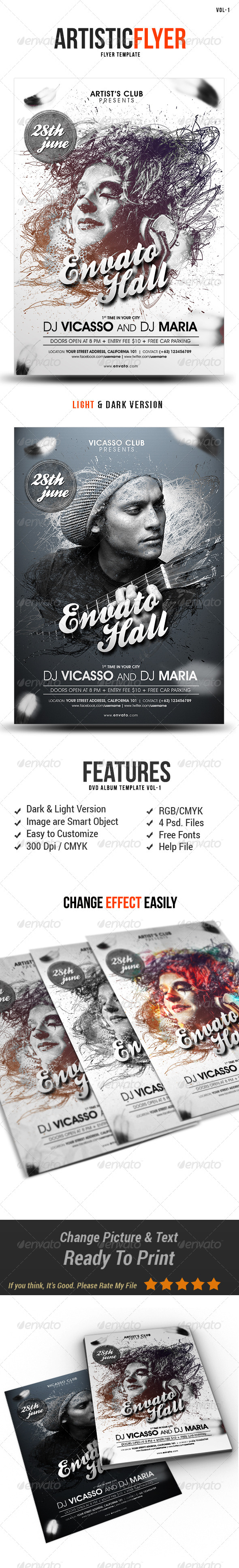 GraphicRiver Artistic Flyer 7930409