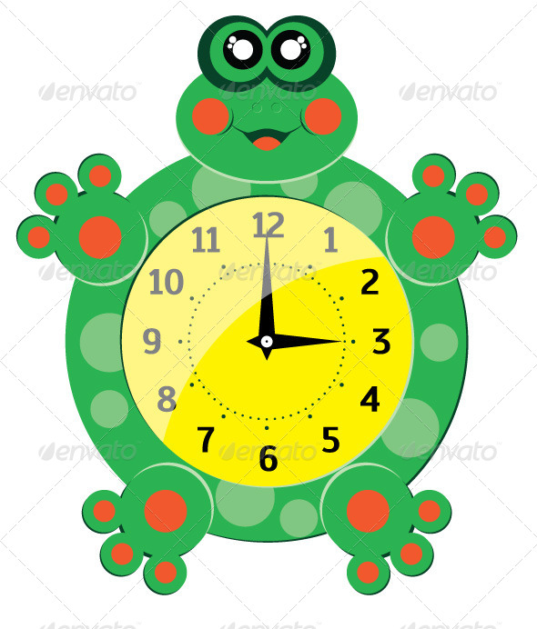 GraphicRiver Frog Clock 7917531