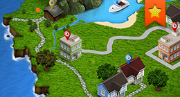 3D Map - Isometric