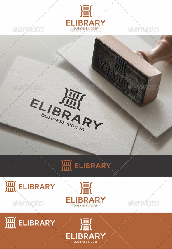 GraphicRiver E-Library Logo Template 7930516