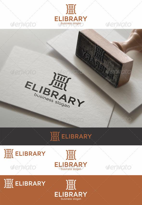 E-Library Logo Template - Symbols Logo Templates