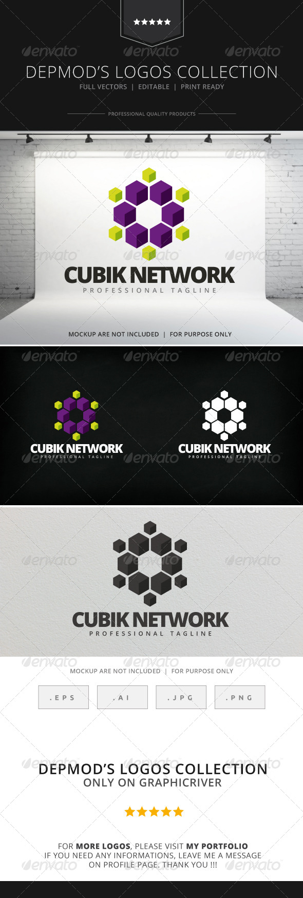 GraphicRiver Cubik Network Logo 7930518
