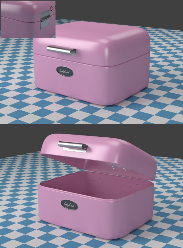 A small pink Breadbox - 3DOcean Item for Sale