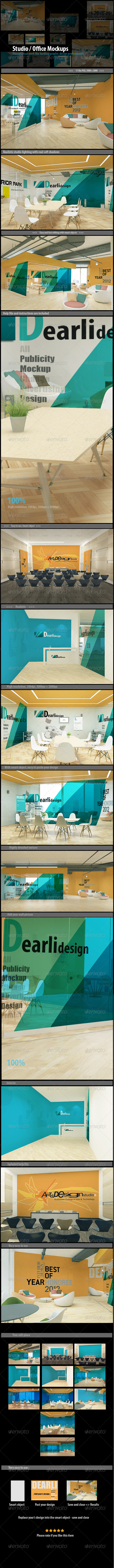 GraphicRiver Studio Office Mockups 7930608