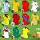 Isometric Uniforms Set of Soccer Cup - GraphicRiver Item for Sale
