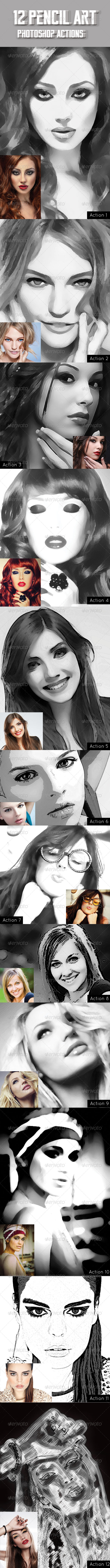GraphicRiver Pencil Art Actions 7931005