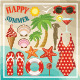 Summer Beach Set - GraphicRiver Item for Sale