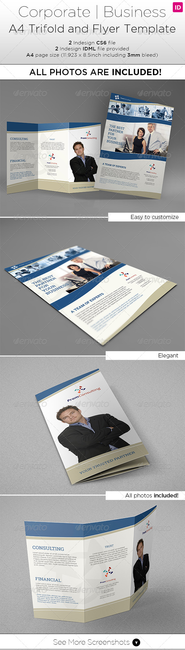 GraphicRiver A4 Trifold & Flyer Template All photos included 7931032