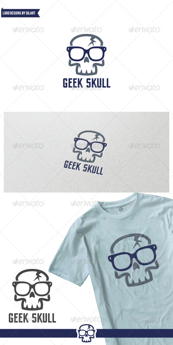 GraphicRiver Geek Skull 7931071