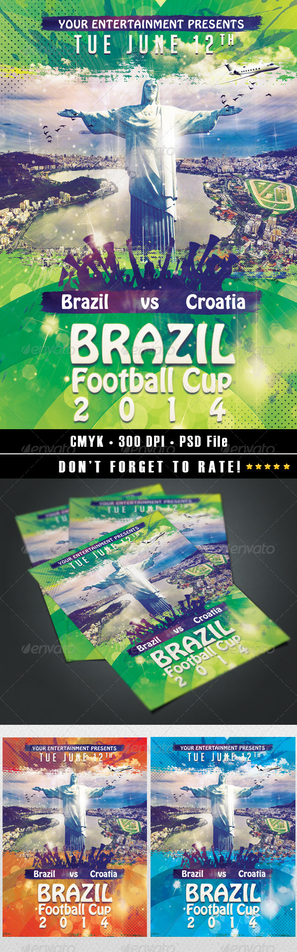 GraphicRiver Brazil Football Cup 2014 7921328