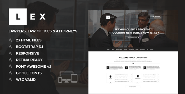 LEX - Lawyers, Law Offices & Attorneys HTML