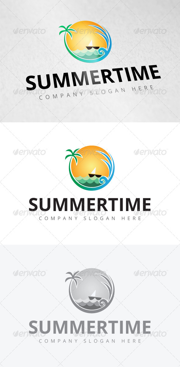 GraphicRiver Summer Time Logo 7931468