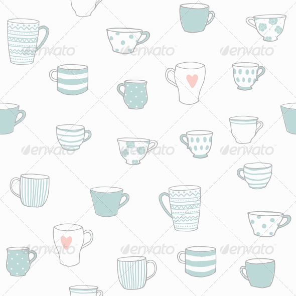 GraphicRiver Pattern with Tea Cup 7931472