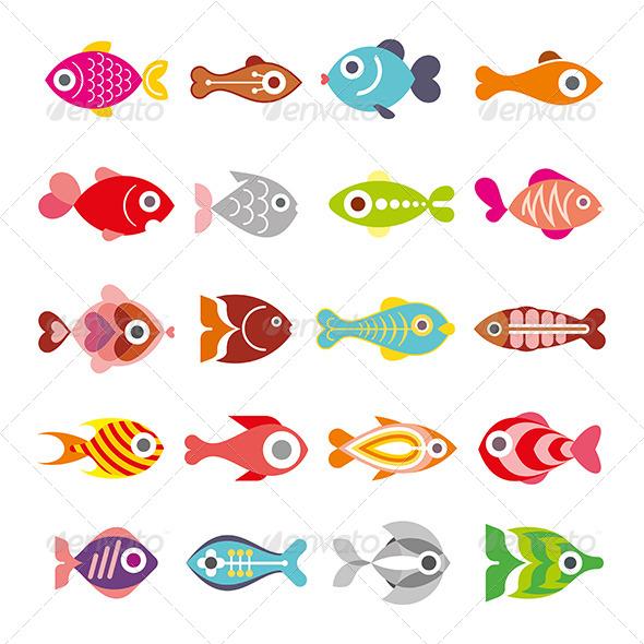 GraphicRiver Fish Icon Set 7931493