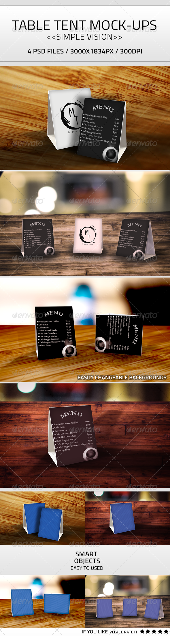 GraphicRiver Table Tent Mock-Up PSD 7931494