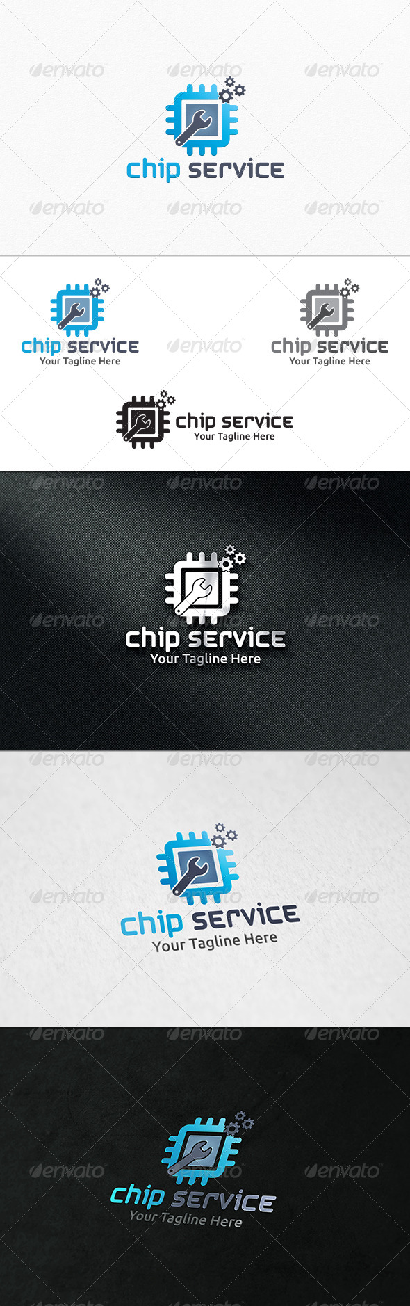 GraphicRiver Chip Service Logo Template 7931501