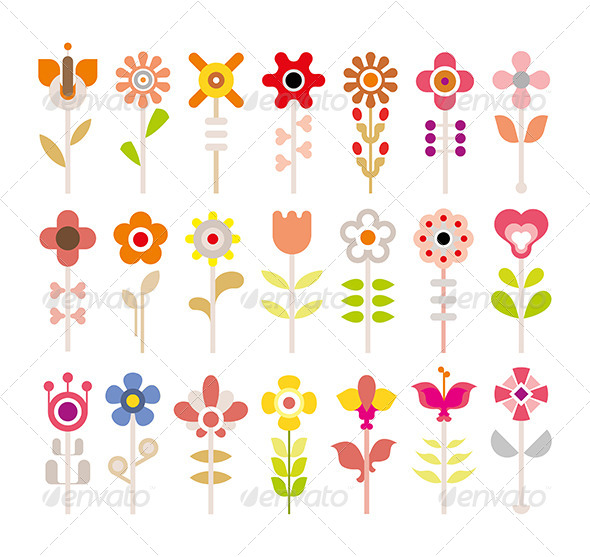 GraphicRiver Flower Icon Set 7931809