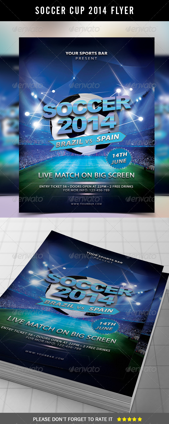 GraphicRiver Soccer Flyer Template 7931873