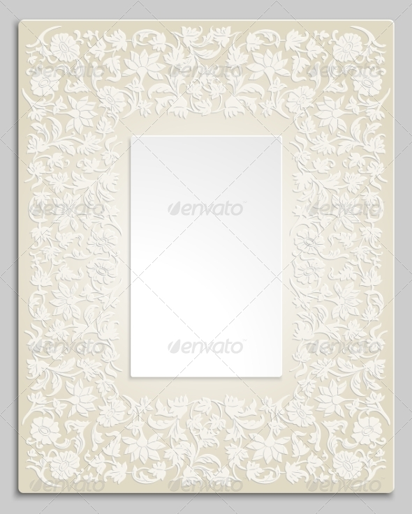 GraphicRiver Save the Date Floral Card Border Frame 7932276