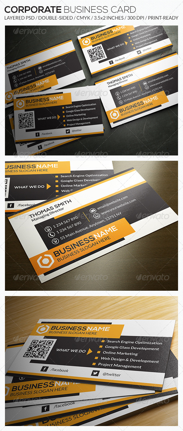 GraphicRiver Corporate Business Card RA32 7932586