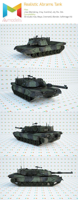 3DOcean Realistic Abrams Tank 7932773