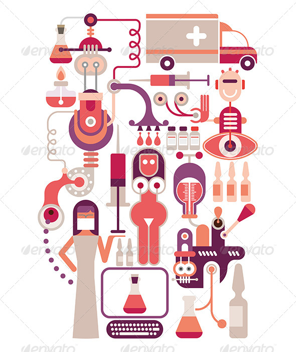 GraphicRiver Medical Laboratory Illustration 7932839