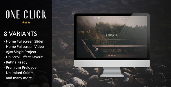 One Click - Parallax One Page HTML Template - Creative Site Templates