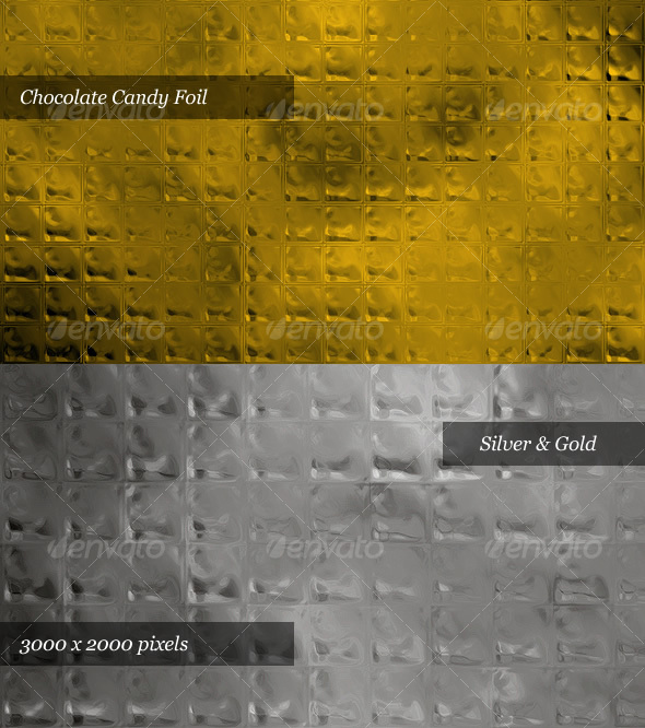 GraphicRiver Chocolate Candy Foil Silver & Gold 33687
