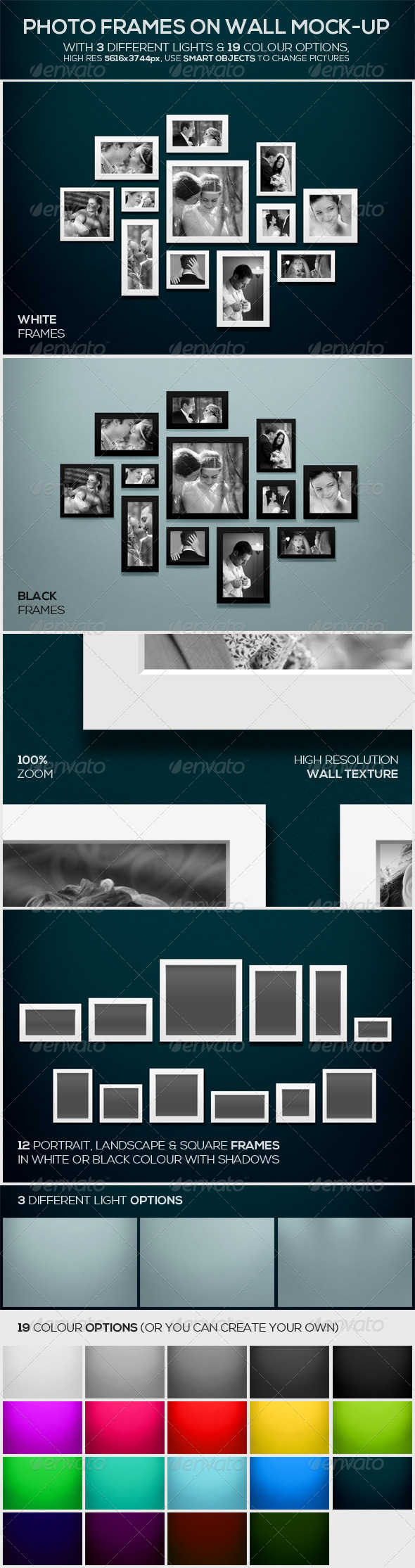 GraphicRiver Photo Frames on Wall Mock-up 7933415