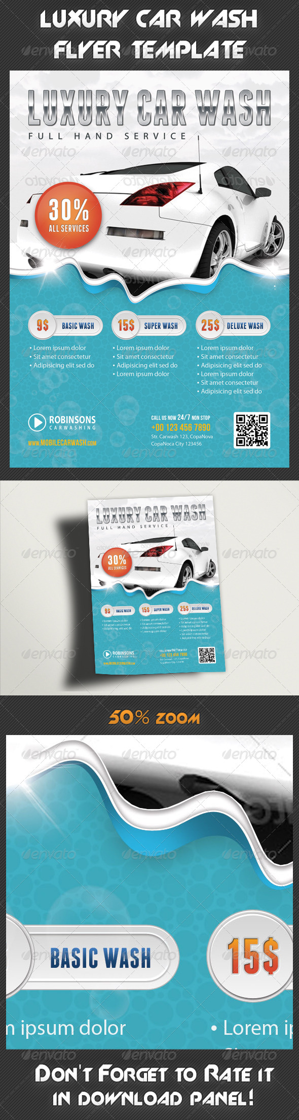 GraphicRiver Car Wash Flyer 7933427