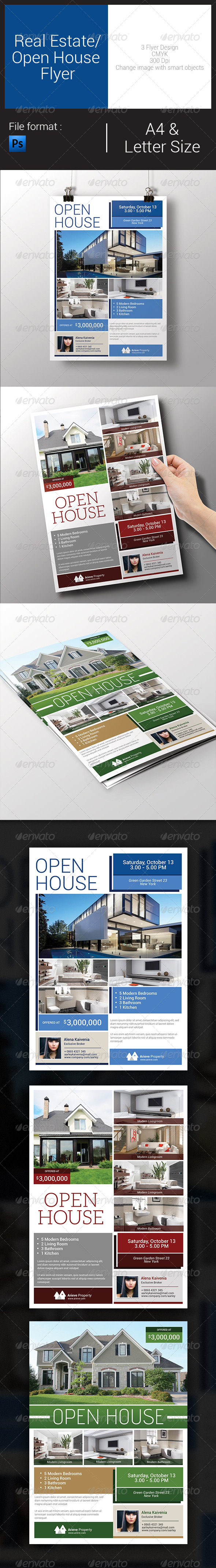 GraphicRiver Real Estate Open House Flyer 7933432