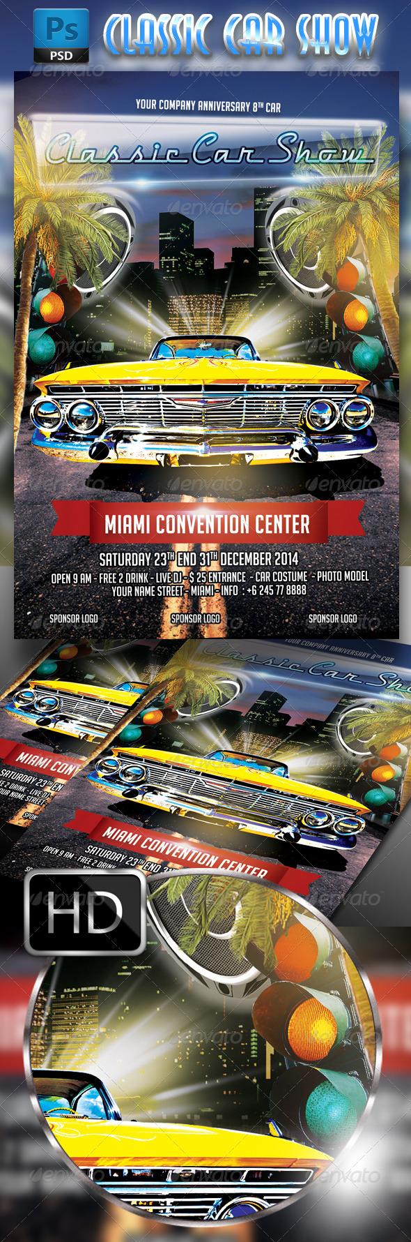 GraphicRiver Classic Car Show flyer 7933628