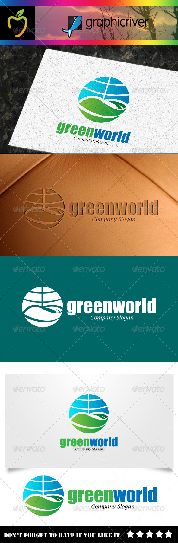 GraphicRiver Green World Logo 7933651