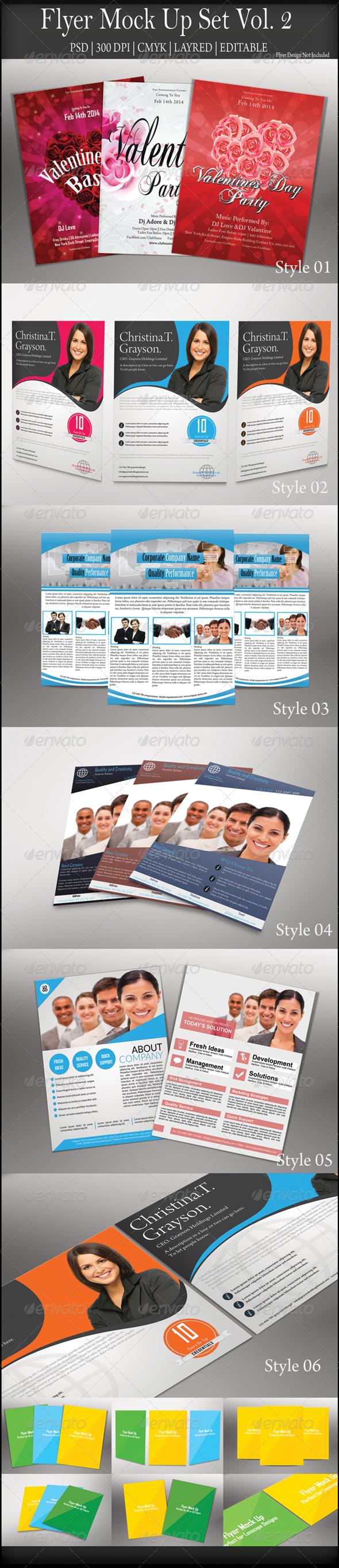 GraphicRiver Flyer Mock Up Vol 2 7934509