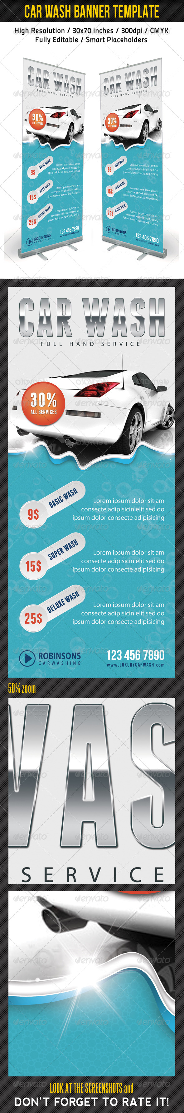 GraphicRiver Car Wash Banner Template 7934579