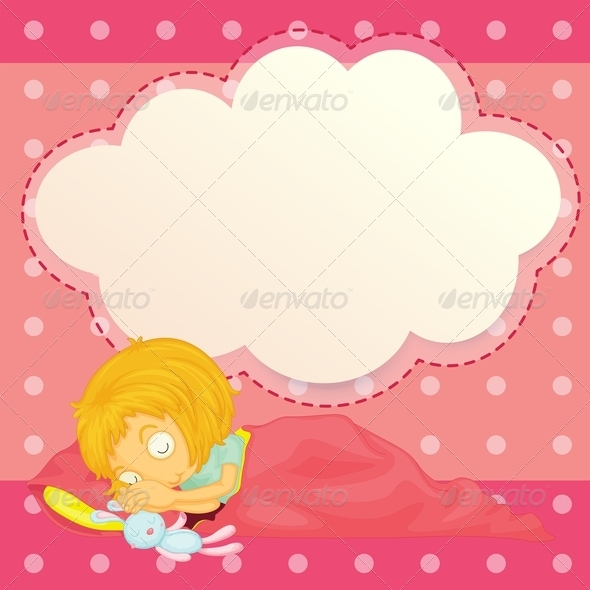 GraphicRiver Girl Sleeping with an Empty Cloud Callout 7934628