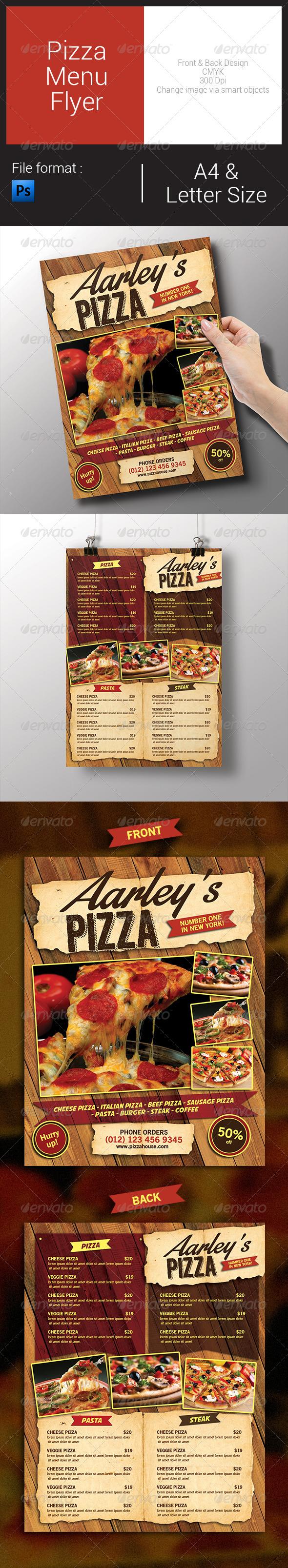 GraphicRiver Pizza Menu Flyer 7934639